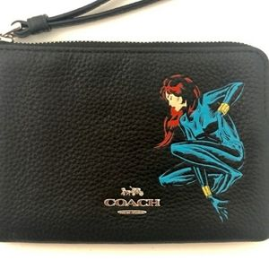 Coach x Marvel leather wristlet